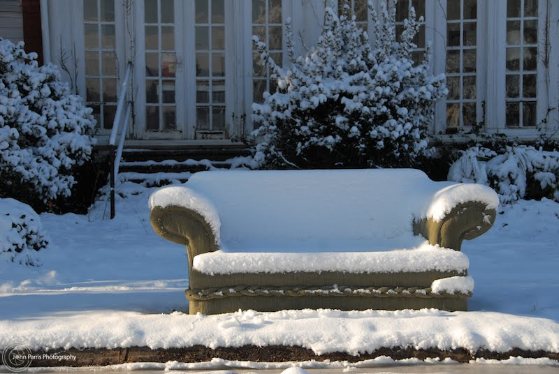 Have a seat and enjoy the snow.