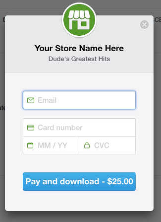 Stripe Checkout credit card form for Download Monitor